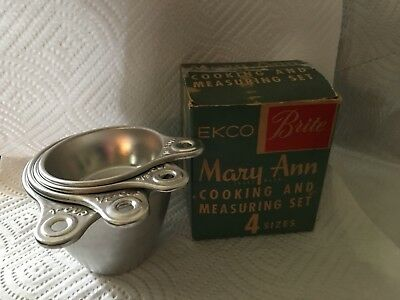 Vintage Mary Ann Cooking Measuring  Set New Old Stock Unused