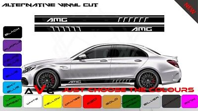 Mercedes AMG C63 Edition  Side Racing Stripes Graphic Decals 3 - 5 door RS150