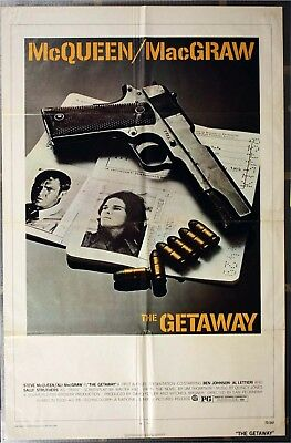 """/""""THE GETAWAY/"""" McQUEEN MacGRAW/""""  Retro Movie Poster A1A2A3A4Sizes"""