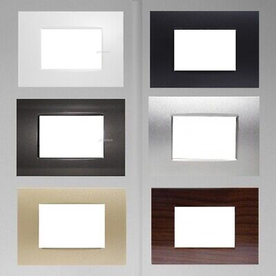 Placca Compatibile Placche Bticino Living Light 3 4  7 Moduli In Abs Vari Colori