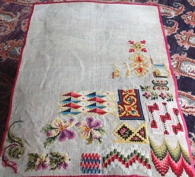 Antique Beautifully Worked Tapestry Stitch Design Samples