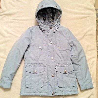 Girls Next Winter  Lined Hooded Parka Coat Age 11 Years Quilted