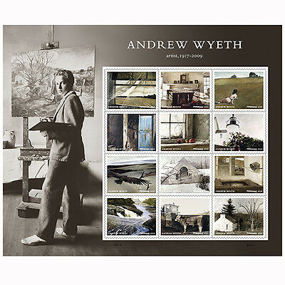USPS New Andrew Wyeth Full Pane of 12