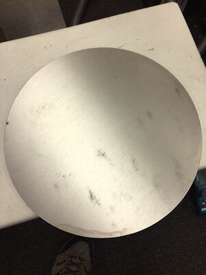 """9.7//8/"""" diameter x 1/"""" thick 6061 T651 AMS 4027 Solid Stock Aluminum Plate Round"""