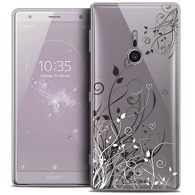 "Coque Crystal Gel Pour Sony Xperia XZ2 (5.7"") Souple Love Hearts Flowers"