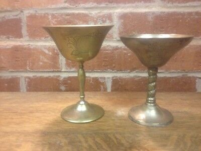 Metal Goblet Wide Top Vintage Dirty