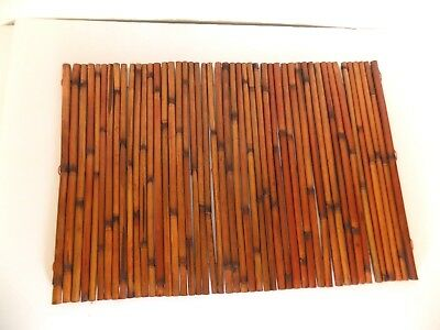 Set Of 4 Dark Bamboo Reed Table Place Mats Placemats Beach Cabin 20 5