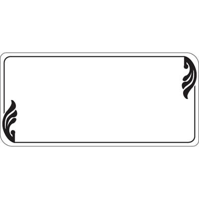 Write On Deli Tag with Black Accents White Heat Resistant Merchandising Tags -