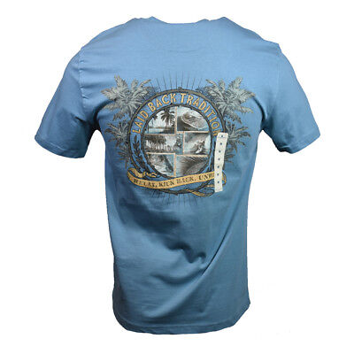 """Laid Back Men's T-shirt """"Island Shores""""  Relax,Kick back,unwind Fathers Day Gift"""
