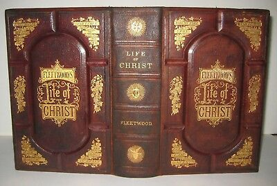 LIFE of JESUS CHRIST 🔥 BIBLE_HISTORY of JEWS_MARTYRS_VICTORIAN LEATHER BINDING