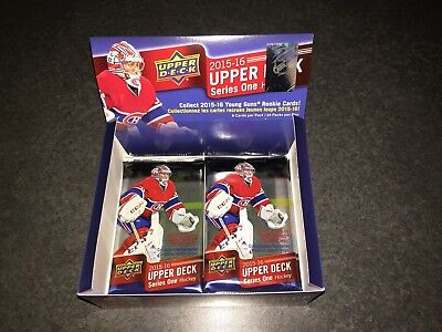 2015-16 Upper Deck Series 1 Hockey (3)- Sealed 8 Card Packs McDavid Rookie Year!