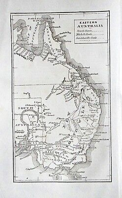 Lot 2 AUSTRALIA 1856 w ANTIQUE MAP inc Sturt Eyre Exploration+ text + illus
