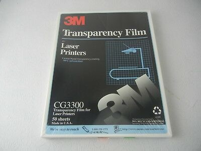 3M Transparency Film Laser Printers CG3300 NEW!!