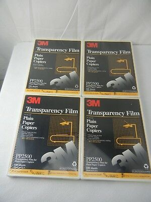 3M Transparency Film  PP2500 4 Packs of 100 NEW!!