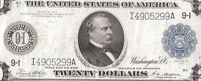 Rare 7 Digit Serial Minneapolis  Type-A 1914 $20 Federal Reserve Note