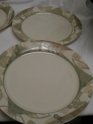 CORELLE TEXTURED Leaves Dinner Bread Plate Soup Bowl Pie Dish 19 Pc ...