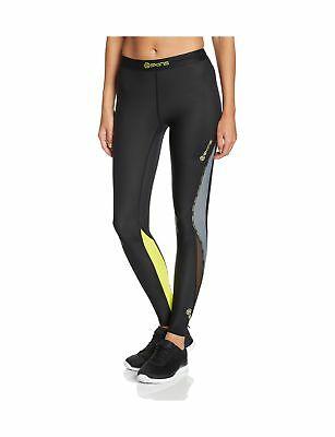 Skins Women's DNAmic Compression Long Tights Black/Limoncello Small