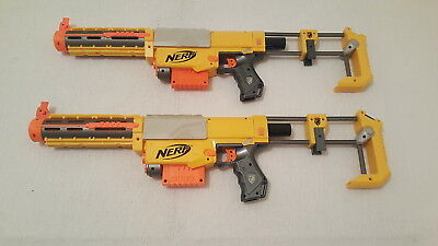 Lot of 2 Two Nerf N-STRIKE Recon CS-6 Dart Guns with Accessories