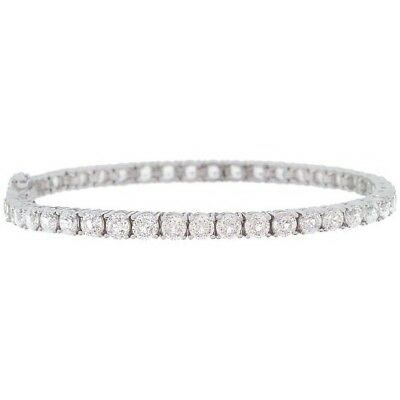 "Epiphany Diamonique 100-Facet Classic Tennis 8"" Bracelet QVC $237.98"