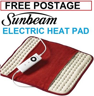 Sunbeam Heat Pad Soothing Pain Relief Heating Mat Electric Back Joint Arthritis