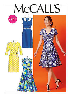 McCall's Sewing Pattern 6959 M6959 Misses Sz 14-22 Easy Wrap Dresses & Belt