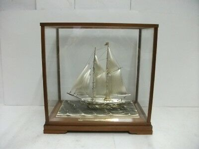 The sailboat of Silver of Japan. 2masts. #219g/ 7.71oz. Japanese antique