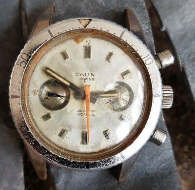 Waterproof Chronograph Valjoux 7733 For Parts 38Mm