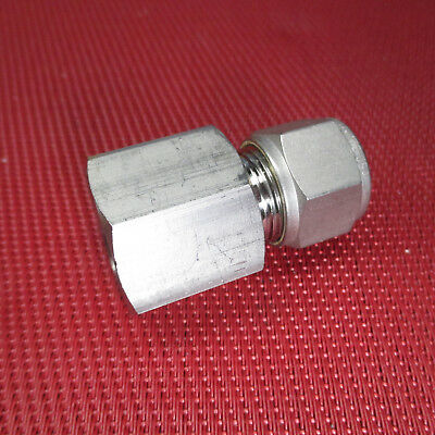 SSP Grip® 1/2 Tube x 1/2 NPT Pipe FEMALE STRAIGHT CONNECTOR 316 Stainless Steel