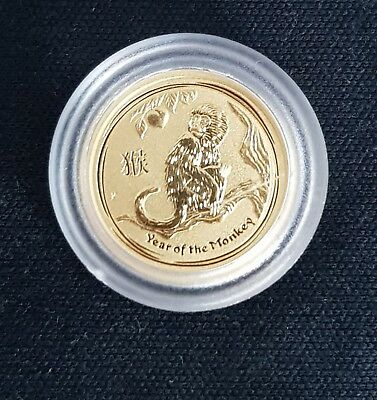 1,One 2016 Year of the Monkey 1/20oz .9999 gold bullion coin
