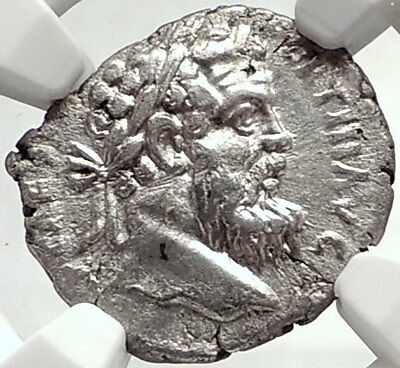 PERTINAX 193AD Rome RARE Authentic Ancient Silver Roman Denarius Coin NGC i68746