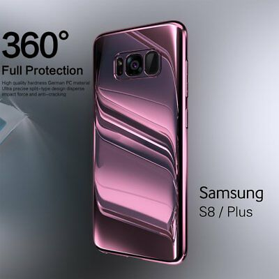 360° Full Body Seamless Mirror Phone Case PC Cover For Samsung Galaxy S8/S9 Plus
