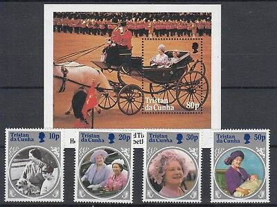 Tristan Da Cunha 1985 Queen Mother 85th birthday set & s/sheet MNH
