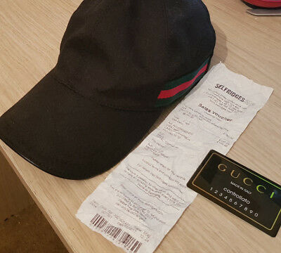 78634ae066b GUCCI BLACK CAP with Receipt - £4