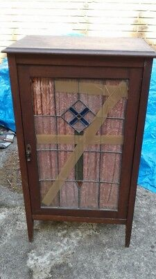Antique leadlight cabinet, for restoration