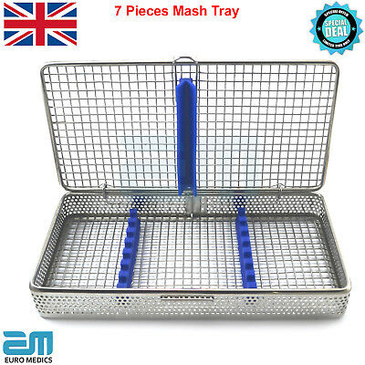 Dental Mash Tray 7 Pieces Instrument Sterilization Autoclave Cassette Dentist CE