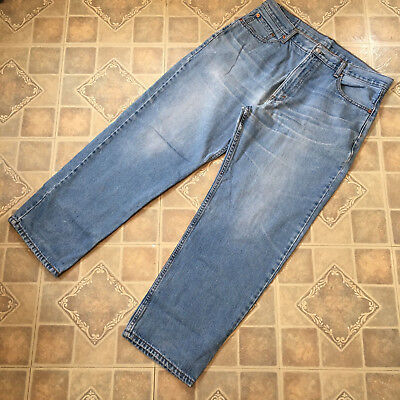 Vintage Levis 550 Red Tab Jeans Mid Blue Relaxed Fit W 36 L 30