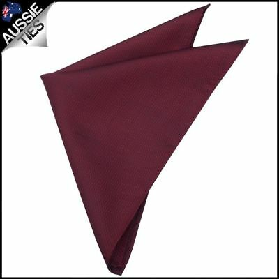 Burgundy Red Woven Texture Pocket Square Handkerchief