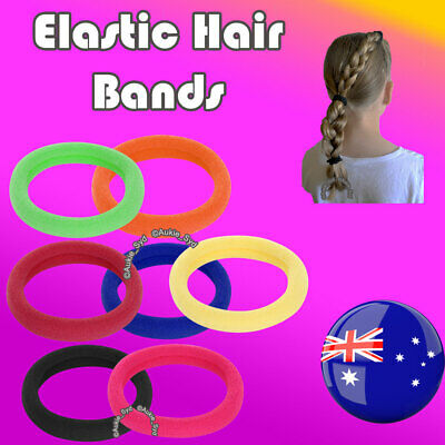 300~20 x Thick Elastic Hair Ties Head Bands Ponytail School Girls/Women
