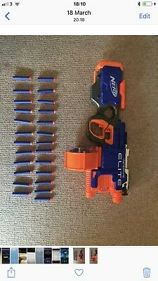 Nerf - N-Strike Elite Hyper Fire Blaster Toy Gun comes with 25 nerf darts used