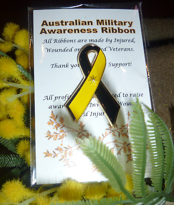 The Official Authorised Australian Military Awareness / ANZAC Ribbon Lapel Badge