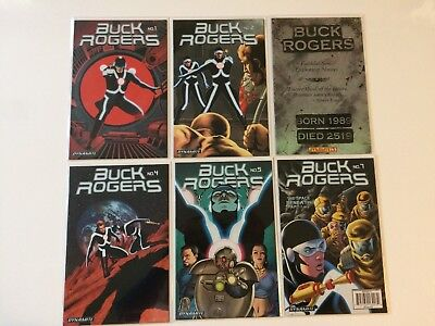 Lot of 6 Buck Rogers Vol 4 #1 2 3 4 5 7 Variants Dynamite Comics 2009 VF/NM