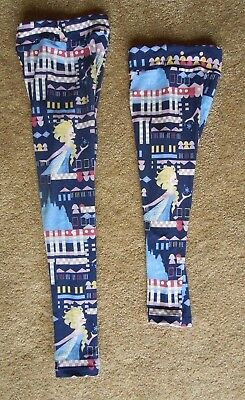 Lularoe Disney Princess SISTER SET Frozen Elsa Snow L/XL & S/M Legging