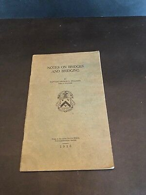 Notes on Bridges and Bridging 1916 US Army Corps of Engineers WWI ORIGINAL