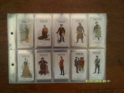 Full Set of 80 - 1919 Types of London - Carreras Cigarette Cards