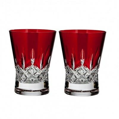 Waterford Lismore Pops Red Double Old Fashioned - Set of 4