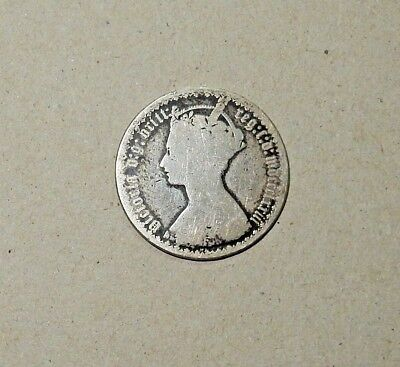 Great Britain UK 1 Gothic Florin 1873 Silver Coin - n566