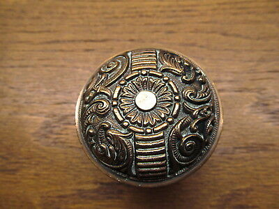 "Nice Old Ornate Brass ? Bronze ?  Door Knob....."" Portulaca "" By Penn ..1890's"