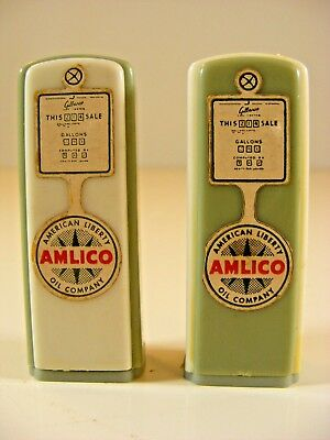 Amlico, American Liberty Oil Company Salt and Pepper Set, Old Gas Pump Form