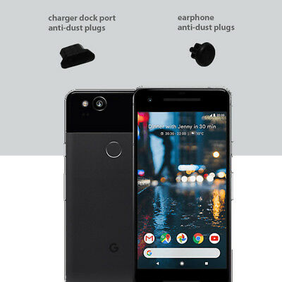 3 x Black Anti Dust Plug charger dock port for lightning For Google Pixel 2