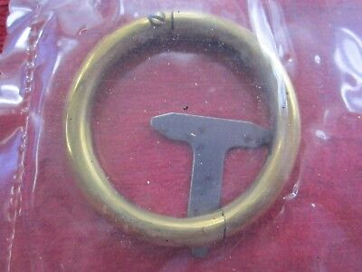 """VINTAGE 2 1/2"""" x 5/16"""" SOLID COPPER BULL NOSE RING, NOS"""